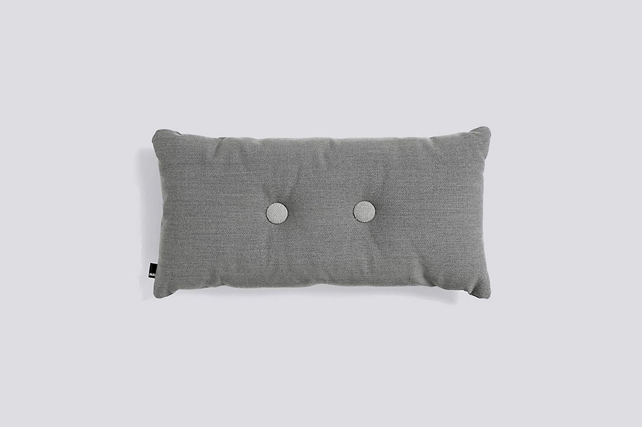 Dot Cushion Steelcut, Two Dots