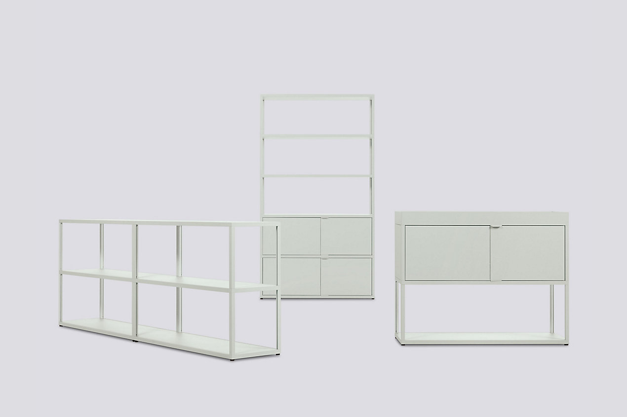 New Order Set - High Single Bookshelf + Low Double Bookcase + Single Credenza