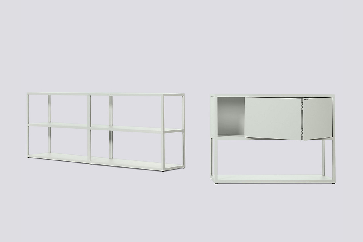 New Order Set - Low Double Bookshelf + Low Single Bookshelf with Storage