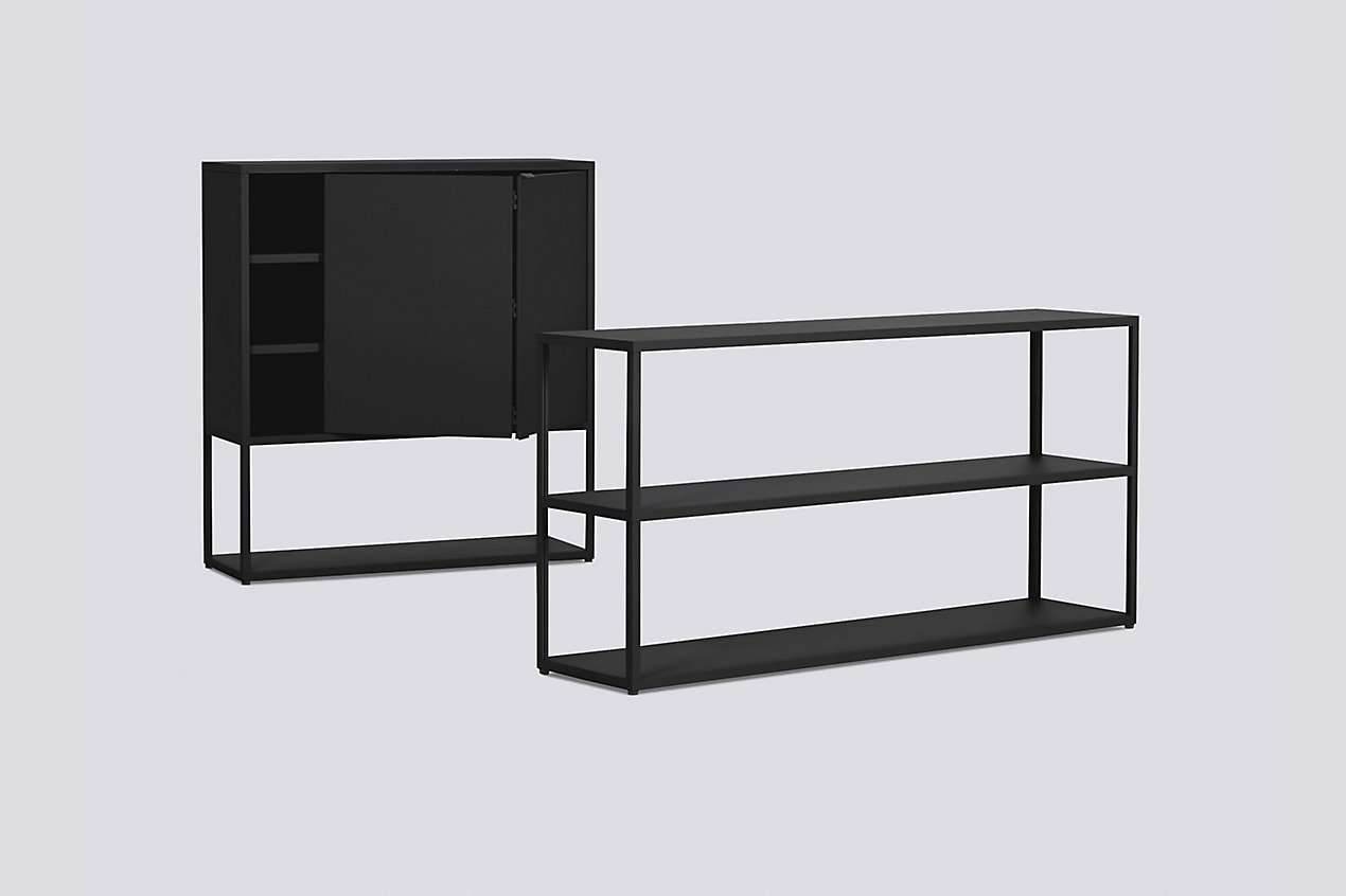New Order Set - Low Wide Bookshelf + Cabinet