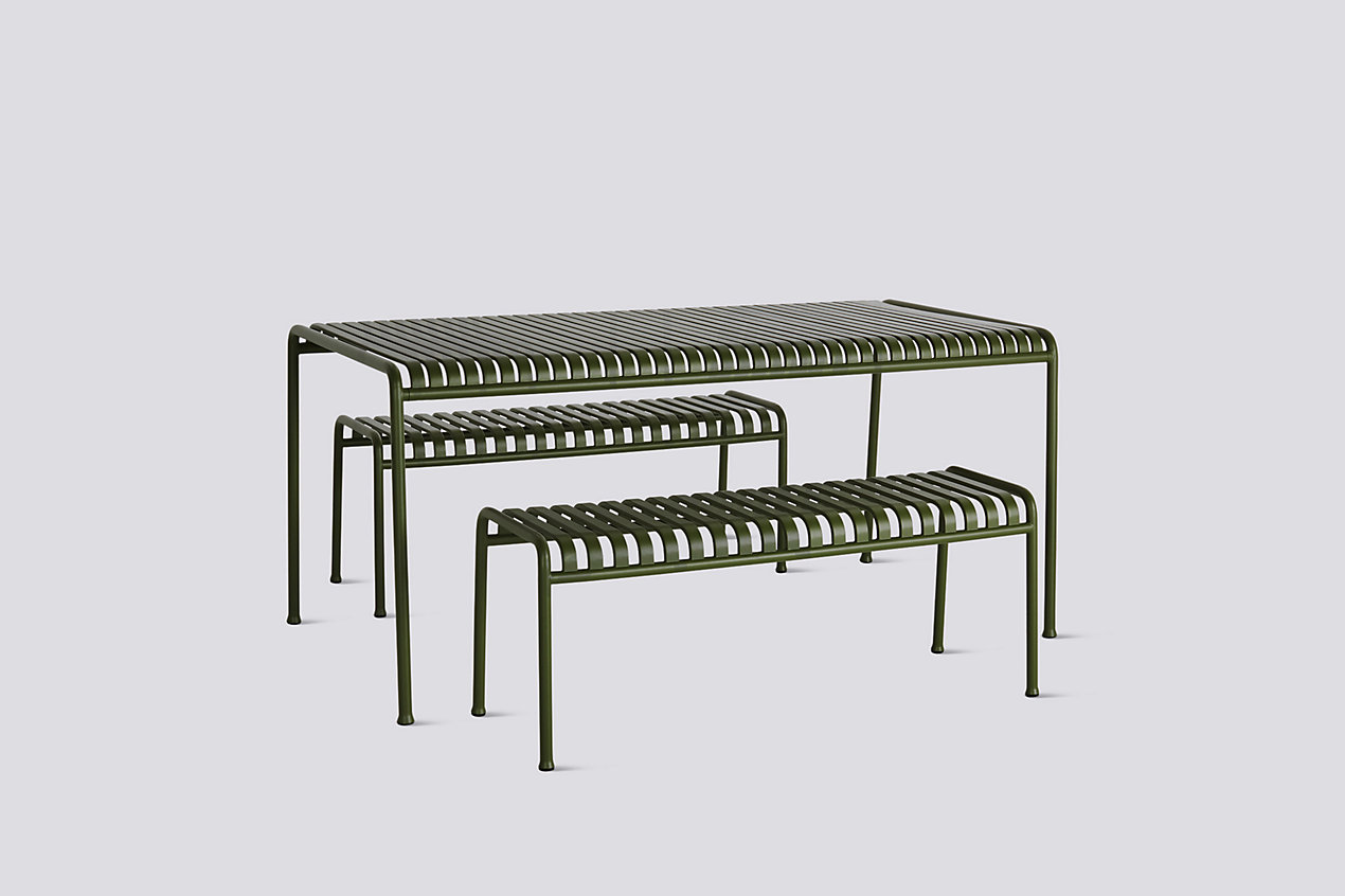 Palissade Dining Table and Bench Set