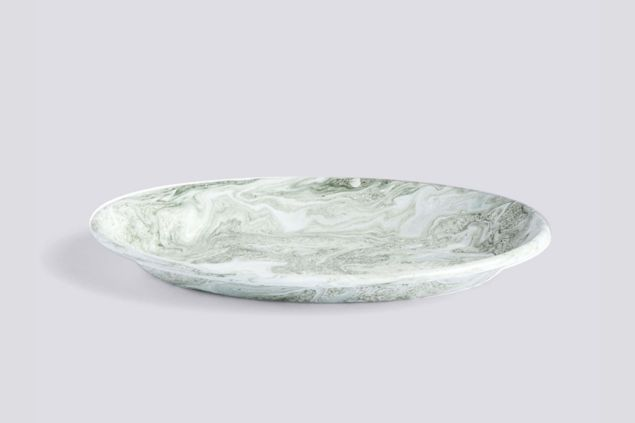 Soft Ice Oval Dish