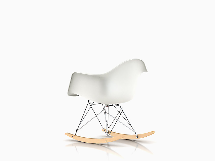 Eames Molded Plastic Armchair, Rocker Base