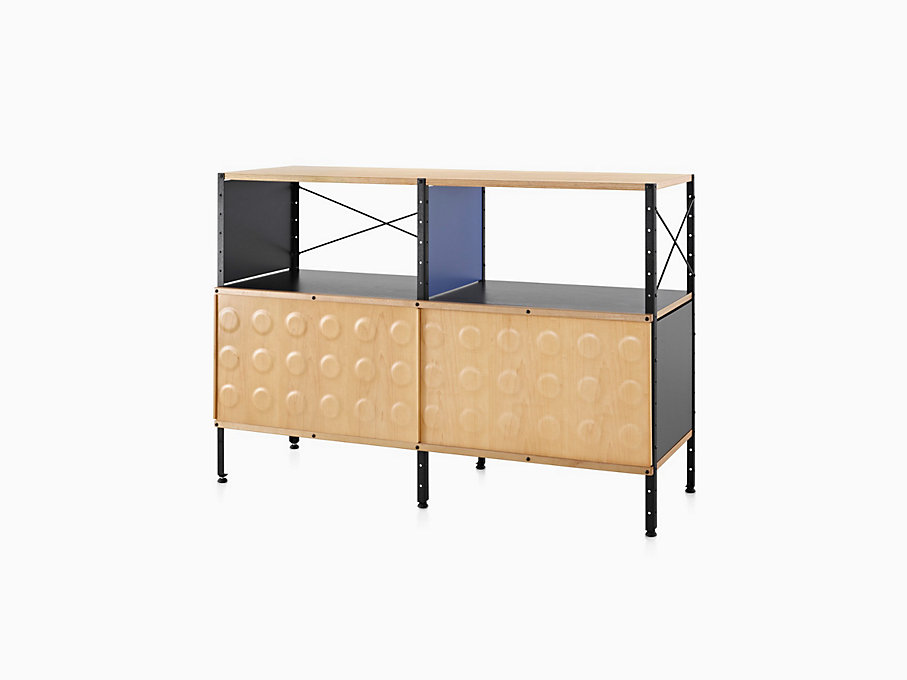 Eames Storage Unit, 2x2 with Doors