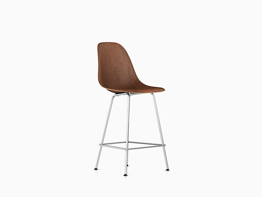 Eames Molded Wood Stool, Counter Height
