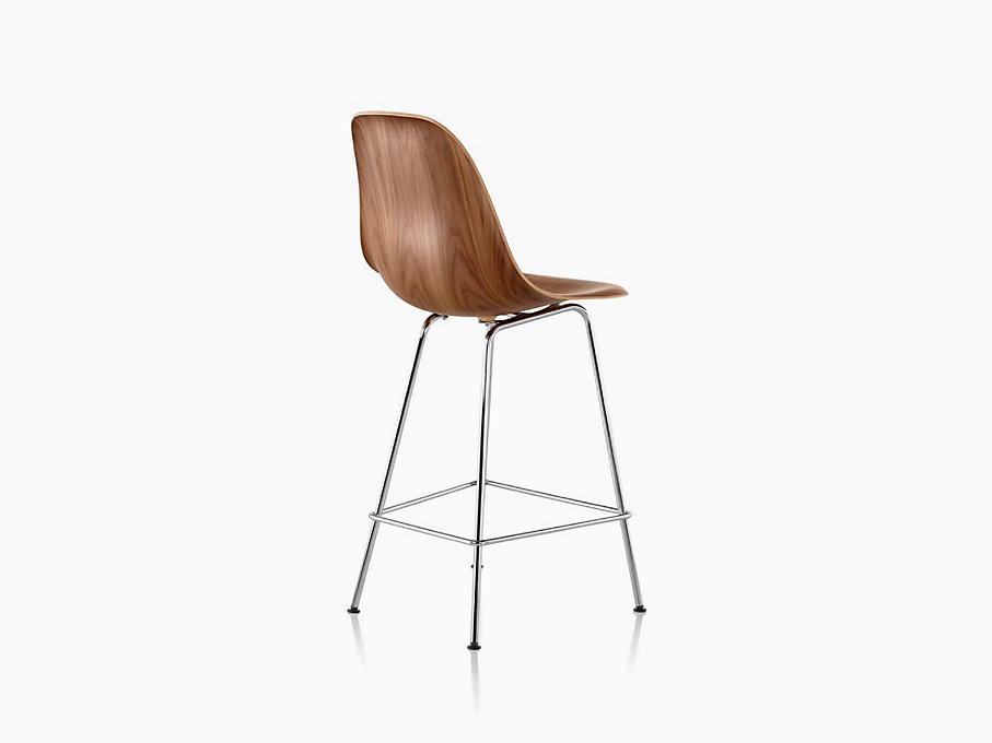Eames Molded Wood Stool Counter Height