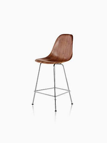 Eames® Molded Wood Counter Stool, DWHCX