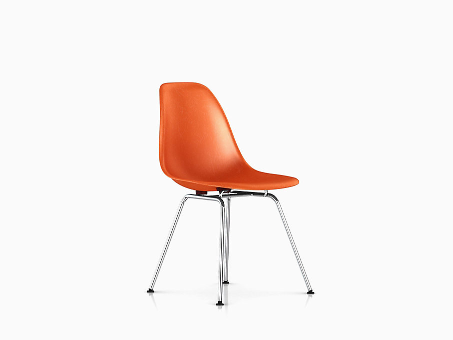 Eames Molded Fiberglass Side Chair, 4-Leg Base
