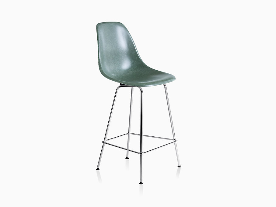 Eames Molded Fiberglass Stool, Counter Height