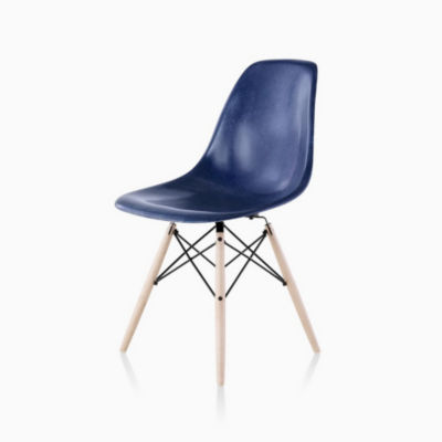 Eames Molded Fiberglass Side Chair, Dowel Base