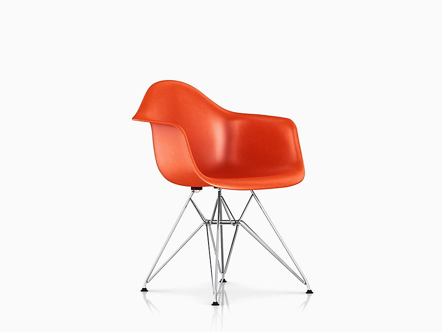 Eames Molded Fiberglass Armchair, Wire Base