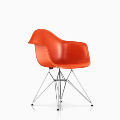 Eames® Molded Fiberglass Wire-Base Armchair (DFAR)