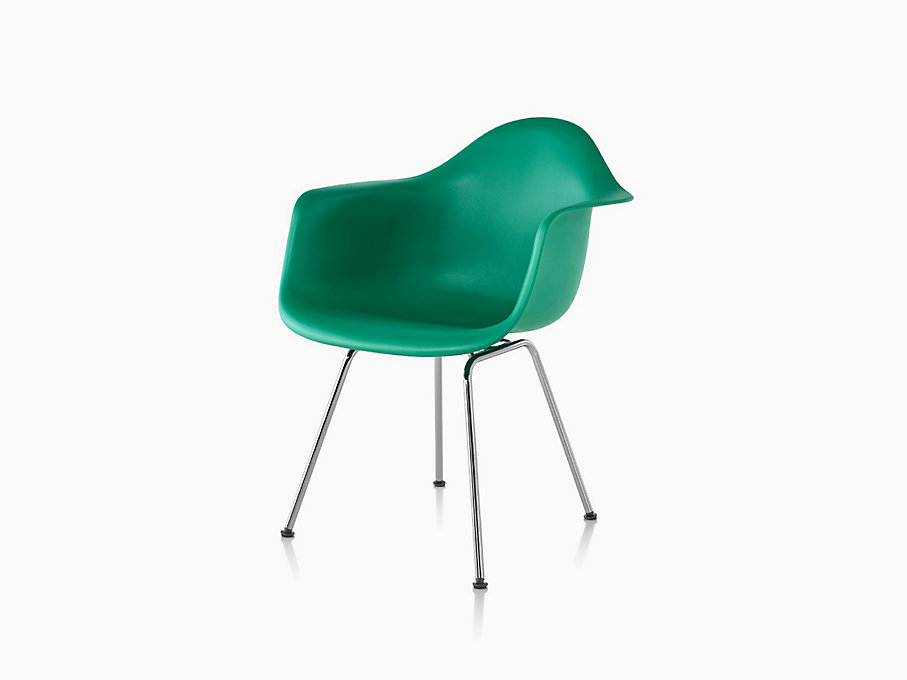 Eames Molded Plastic Armchair, 4-Leg Base