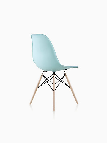 Eames® Molded Plastic Dowel-Leg Side Chair (DSW)