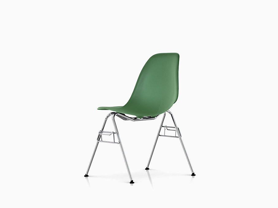 Eames Molded Plastic Side Chair, Stacking Base