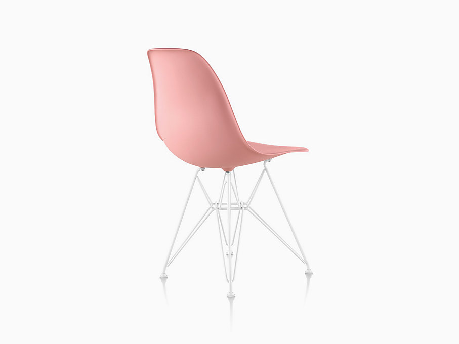 Eames Molded Plastic Side Chair, Wire Base