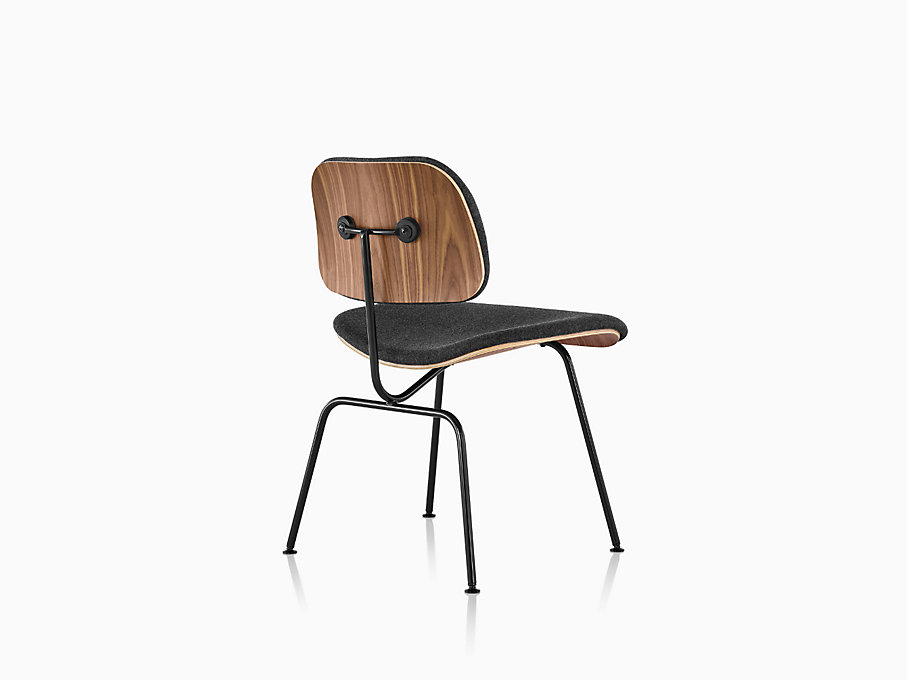 Eames Molded Plywood Lounge Chair with Metal Base