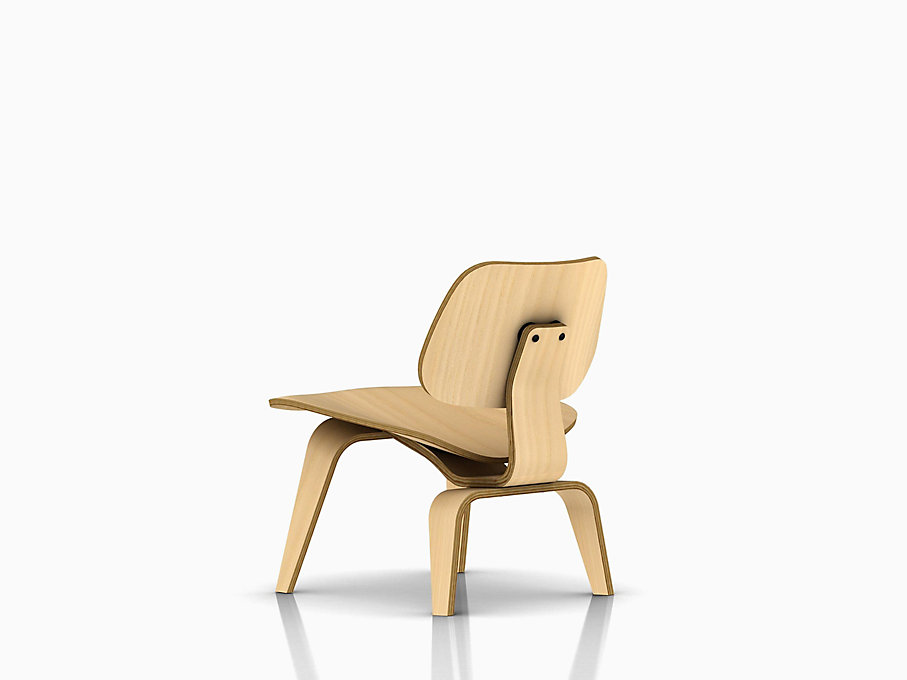 Eames Molded Plywood Lounge Chair with Wood Base