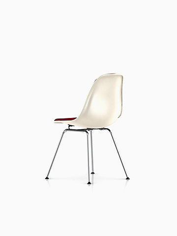 Eames Upholstered Fiberglass 4-Leg Side Chair