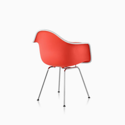 Eames Upholstered Molded Plastic Armchair - 4-Leg Base