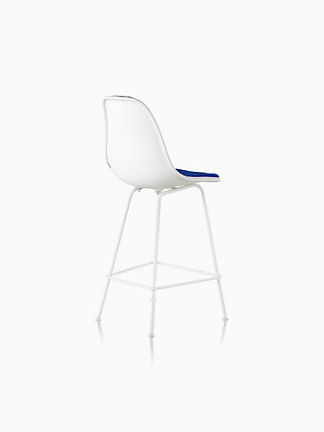 Eames Upholstered Molded Plastic Counter Stool