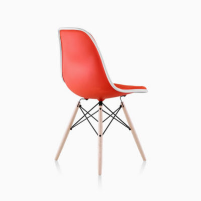 Eames Upholstered Molded Plastic Side Chair - Dowel Leg
