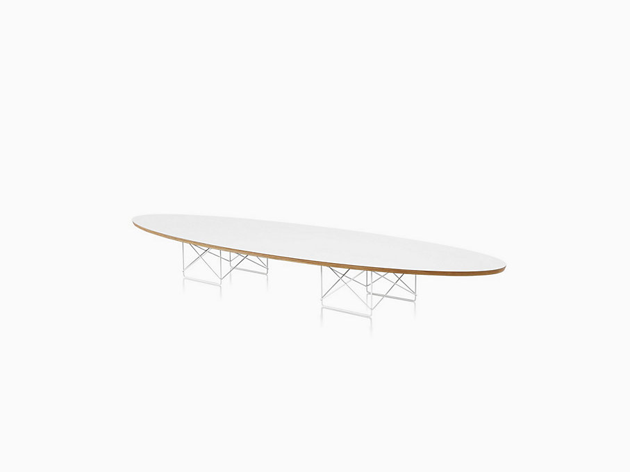 Eames Surfboard Coffee Table.Eames Wire Base Elliptical Table