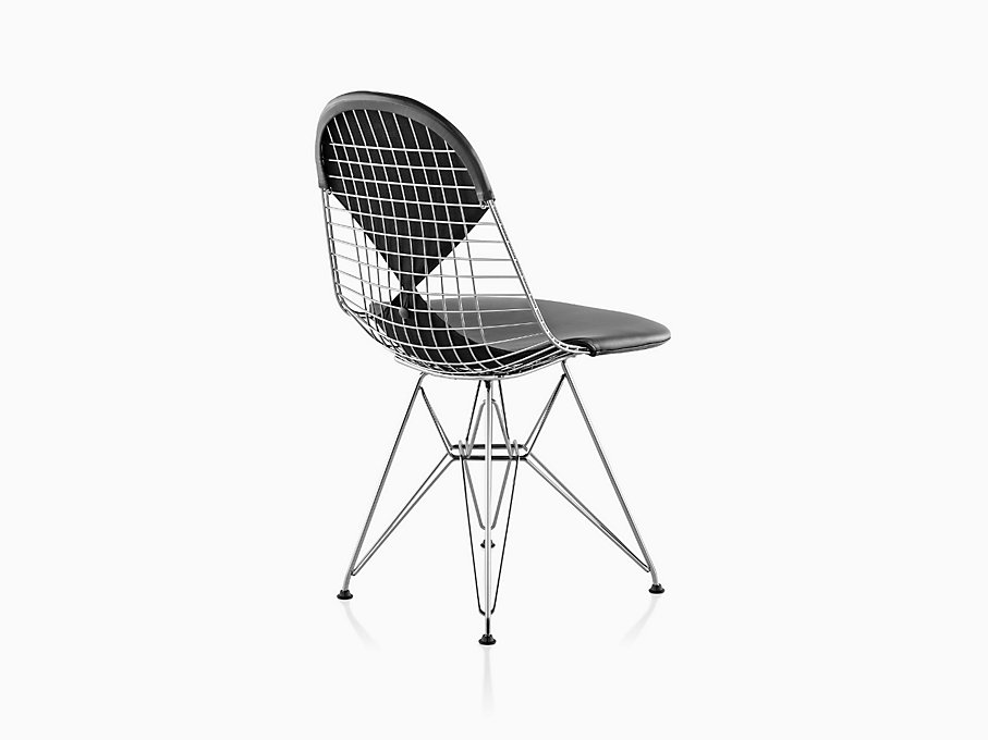 eames wire chair with bikini pad herman miller. Black Bedroom Furniture Sets. Home Design Ideas
