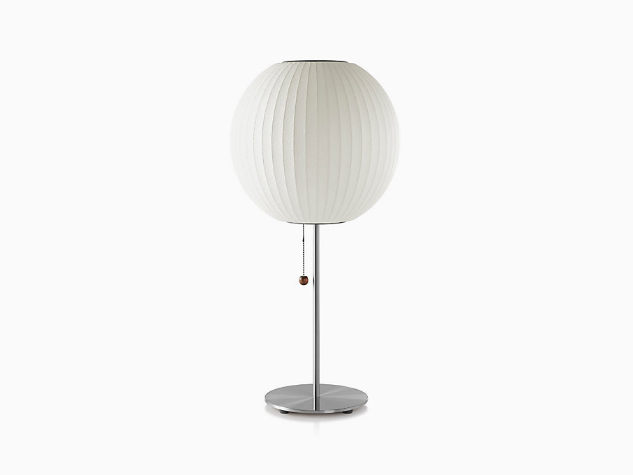 Nelson Ball Lotus Table Lamp, Brushed Base