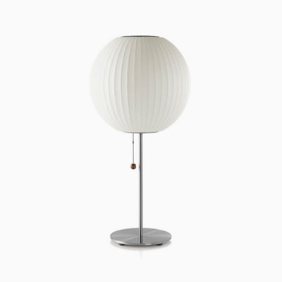 Nelson® Ball Table Lamp, Brushed Base
