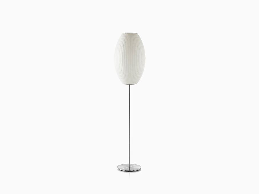 Nelson Cigar Lotus Floor Lamp, Brushed Base