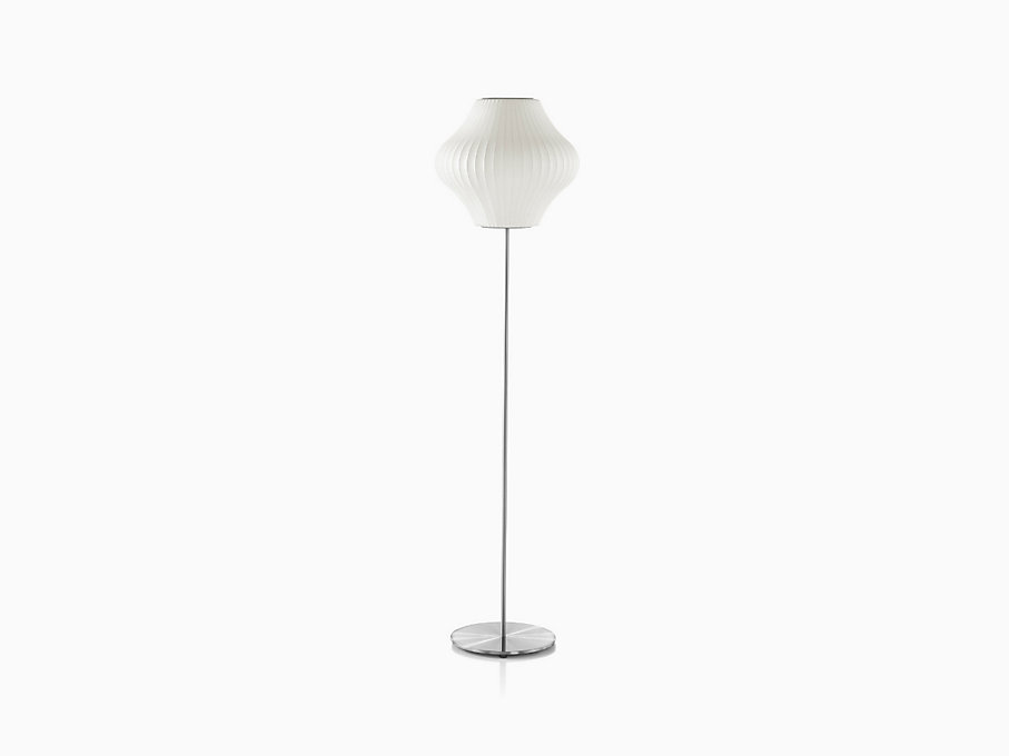 Nelson Pear Lotus Floor Lamp, Brushed