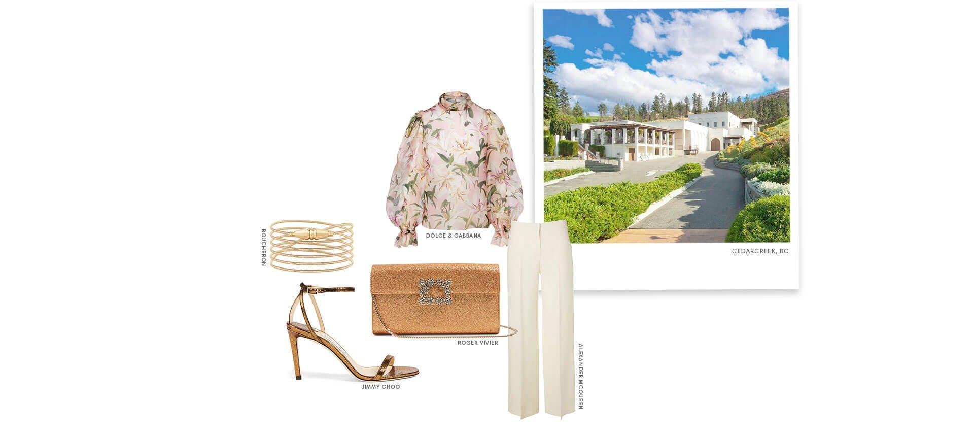 Holt Renfrew Image of Cedar Creek, BC. Dolce & Gabbana.Boucheron. Roger Vivier. Jimmy Choo. Alexander Mcqueen