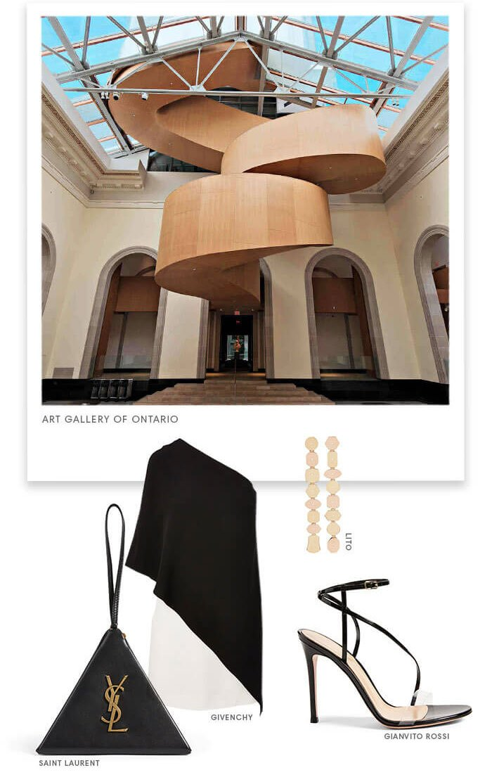 Holt Renfrew Image of Art Gallery Of Ontario. Lito. Sant Luarent. Givenchy. Gianvito Rossi