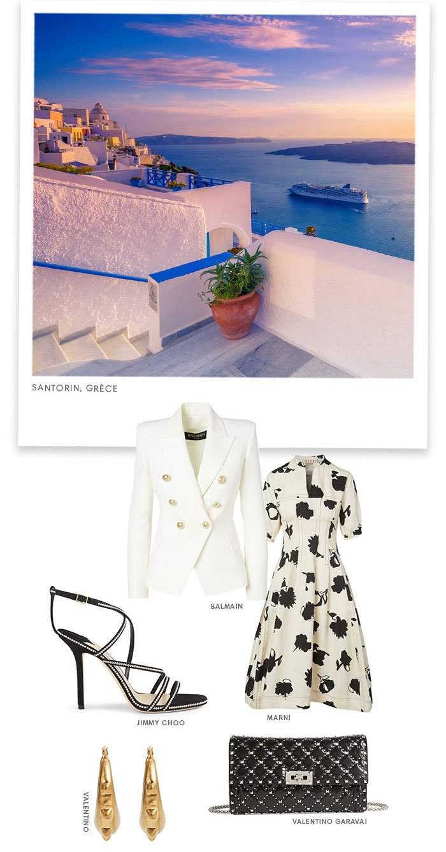 Holt Renfrew Image de Santorini, Greece. Balmain. Jimmy Choo. Marni. Valentino.