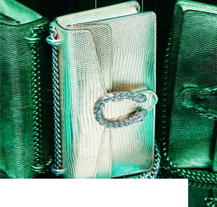 Gucci | Small Dionysus Metallic Shoulder Bag.