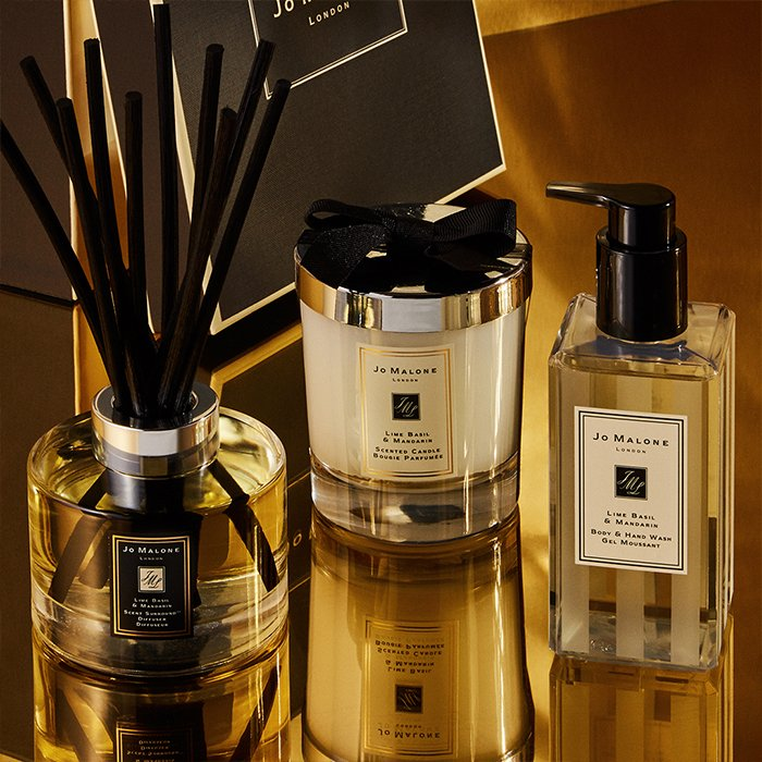 Holt Renfrew image of Day 3. JO MALONE LONDON From The Lime Basil & Mandarin Collection. Scent Surround™ Diffusers. $105. Candle. $84. Body & Hand Wash. $35. SHOP NOW