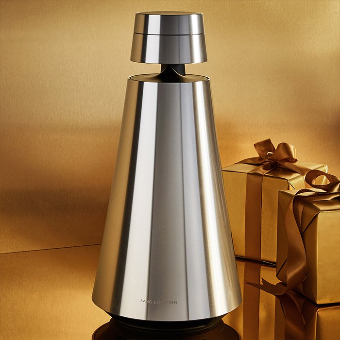 Holt Renfrew image of Day 5. BANG & OLUFSEN BeoSound 1 Wireless Speaker. $2250. SHOP NOW
