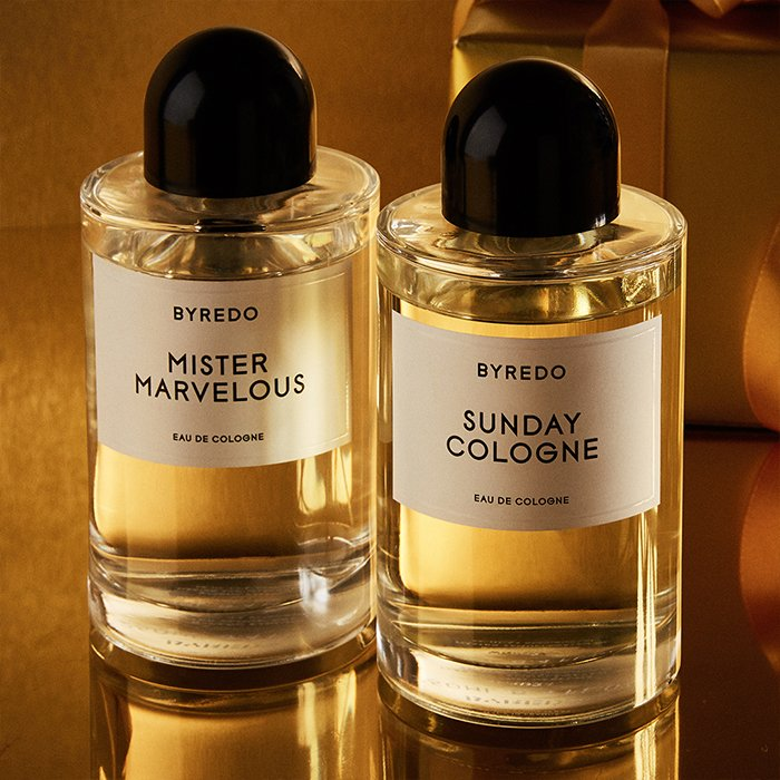 Holt Renfrew image of Day 6. BYREDO Mister Marvelous Eau De Parfum. Sunday Cologne Eau de Parfum. $220 each. SHOP NOW