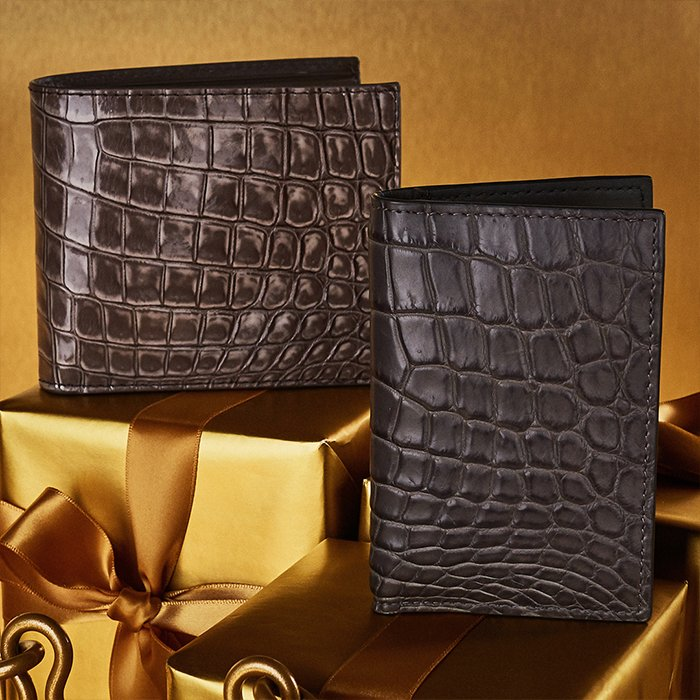 Holt Renfrew image of Holt Renfrew image of Day 8. BOTTEGA VENETA Crocodile Bifold Wallet. $2020. Crocodile Bifold Card Case. $1540. FIND YOUR STORE