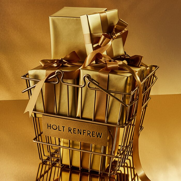 Holt Renfrew image of Day 22. HOLT RENFREW Gold Shopping Basket. $95. SHOP NOW.