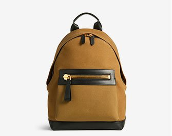 Holt Renfrew image of TOM FORD. Small Canvas Backpack. $2925. SHOP NOW