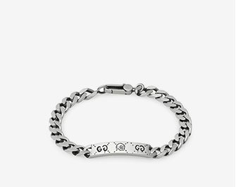 Holt Renfrew image of GUCCI. GucciGhost Sterling Silver Chain Bracelet. $395. SHOP NOW
