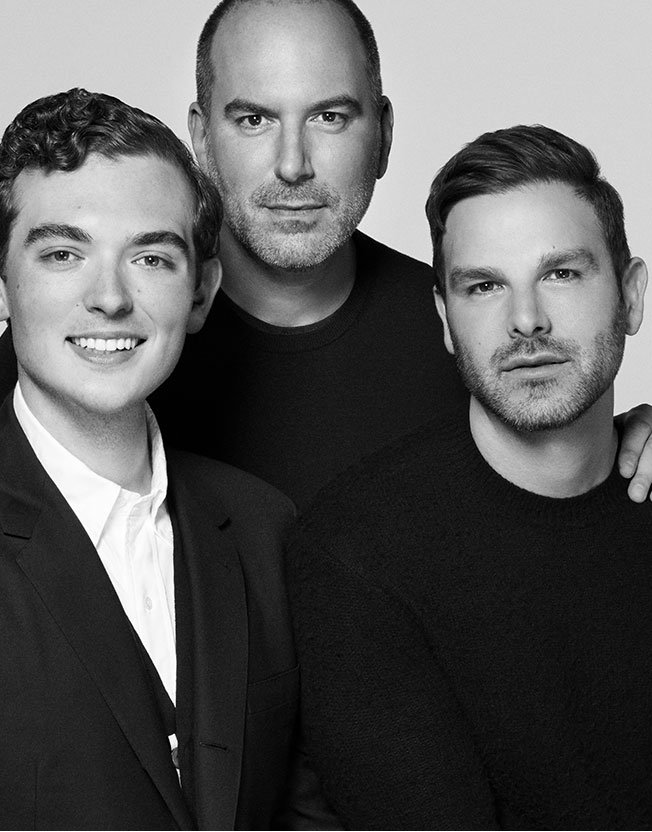 Holt Renfrew image of Mario Grauso, President, with his husband and son