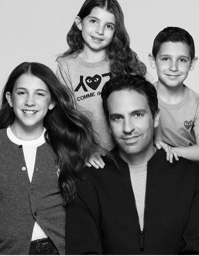 Holt Renfrew image of Rob Zeidel, Chief Operating Officer, with his daughters and son