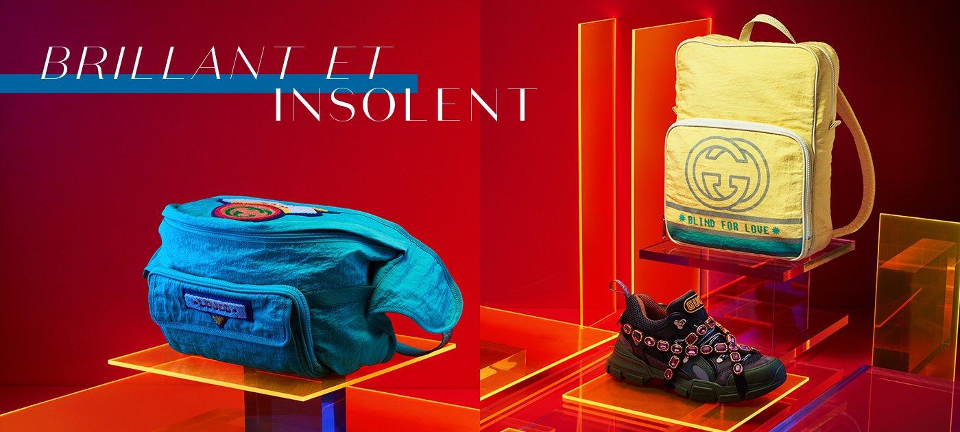 Holt Renfrew Image de GUCCI sac-ceinture. 1 605 $. Sneaker Flashtrek. 1 890 $. Sac à dos. 1 310 $.