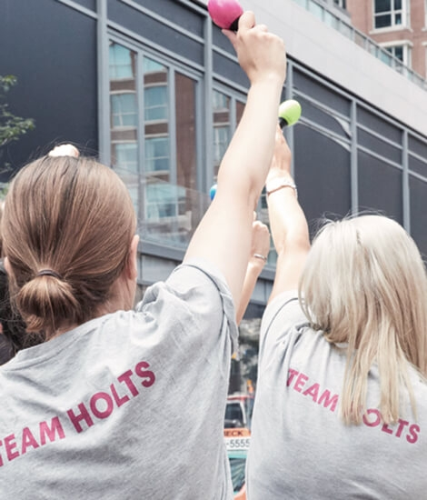 Holt Renfrew Image Of Associates Inspiring Each Other To Take Positive Action.