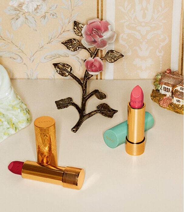 Holt Renfrew image of Holts Exclusive | Introducing Gucci's three new lipstick collections. SHOP GUCCI BEAUTY