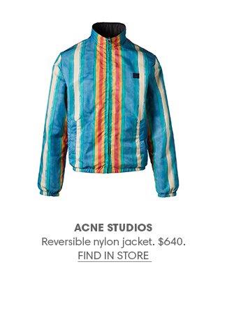 Holt Renfrew image of ACNE STUDIOS Reversible nylon jacket. $640. FIND IN-STORE