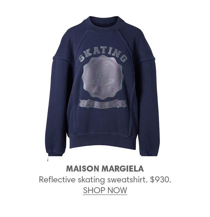 Holt Renfrew image of MARGIELA Reflective skating sweatshirt. $930. SHOP NOW